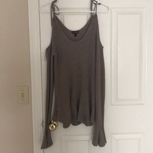 Sweaters - Express cold shoulder sweater